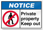 Private Property Keep Out Notice Signs