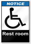 Rest Room Notice Signs