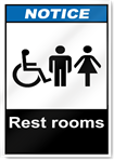 Rest Rooms Notice Signs
