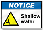 Shallow Water Notice Signs