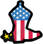 Patriotic Boot Shaped Magnet