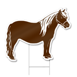 Pony Shaped Sign