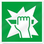 Break Glass Symbol Safety Signs