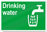 Drinking Water Safety Signs