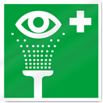 Emergency Eyewash Symbol2 Safety Signs