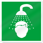 Emergency Shower Symbol Safety Signs
