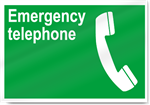 Emergency Telephone Safety Signs
