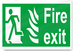Fire Exit Left Safety Signs