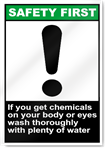 If You Get Chemicals On Your Body Safety First Signs