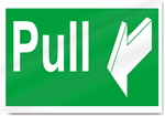 Pull Safety Signs