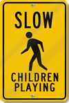 Slow Children Playing With Child Symbol Sign