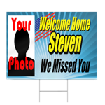 Soldier Welcome Home Sign - Navy
