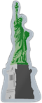 Statue of Liberty Color Shaped Magnet