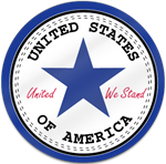 United We Stand Shaped Magnet