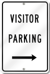 Visitor Parking Sign With Right Arrow