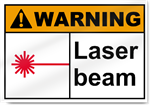 Laser Beam Warning Signs