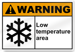 Low Temperature Area Warning Signs