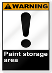 Paint Storage Area Warning Signs