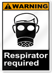 Respirator Required Warning Signs