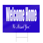Welcome Home from Hospital Sign in Blue
