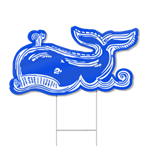 Whale Shaped Sign