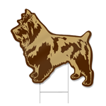 Yorkie Dog Shaped Sign